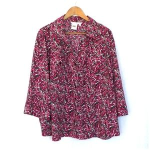 Fred David Pink Abstract Print Button Front Shirt
